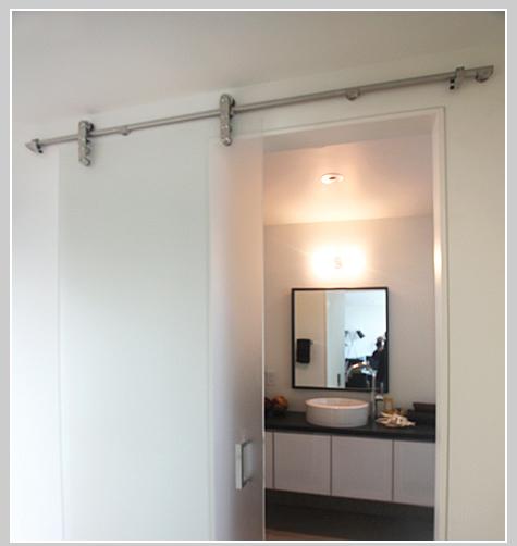 Environite for Barn door bathroom privacy
